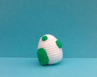 Yoshi egg hand knit, Mario