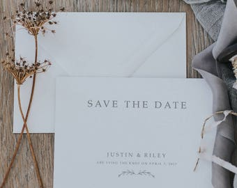 Bohemian the Date Cards. Simple Save the Date Cards. Boho Save the Date Cards. Printed Save the Date Cards.