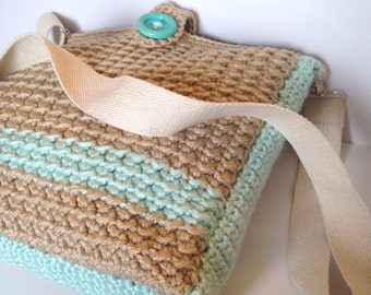 Sandy Shore Messenger Bag - Crochet Pattern