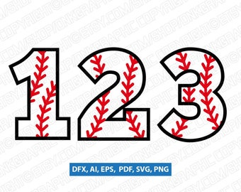 Baseball Softball Ball Numbers First Second Third Fourth Fifth 1st 2nd 3rd 4th 5th Birthday | SVG Vector Cricut Cut File Clipart Png Eps Dxf