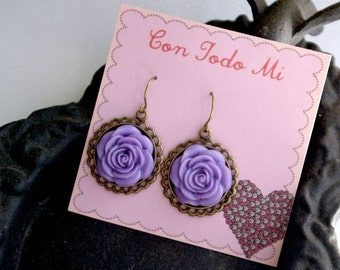 Enamorado Con Purple Earrings