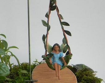 Fairy Swing African American Fairy Accessories Miniature Swing   Fairy  Accessory   Fairy Playground   Fairy
