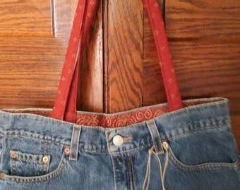 repurposed denim purse