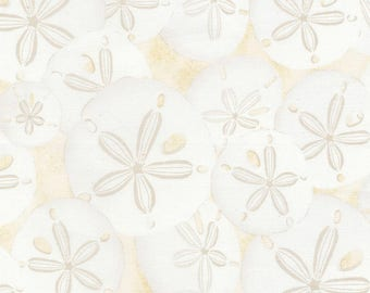 Sand Dollars Fabric; Third Yard, Half Yard, or By The Yard; C5352; Timeless Treasures; Beach Fabric; Beach Haven