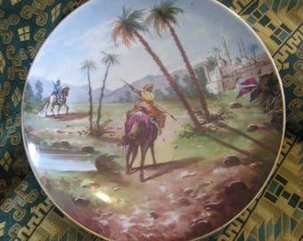Orientalist porcelain plate