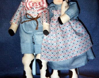 Bullregard & Moolisa Cow Barnyard Friends Collection By Appleblossom Hollow Vintage Uncut Sewing Pattern Packet 1992