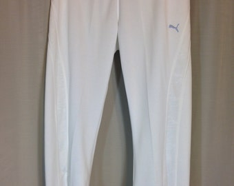 White Knit Capri Sweat Pants by Puma Ladies Small Previously 15 Dollars ON SALE