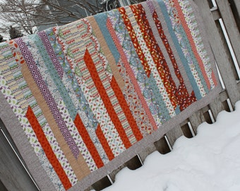 Gorgeous Contemporary Strip Lap Quilt or Wall Hanging