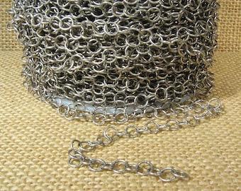 Medium Circle Chain - Antique Silver - CH107 - Choose Your Length