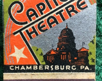 Vintage feature matchbook capitol theatre  the best in pictures Chambersburc PA.