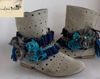 Boho Summer Boot wraps, Boot accessories, boot cuffs, boot jewelry, cowgirl boot straps, Boot belts,Boho gypsy boots