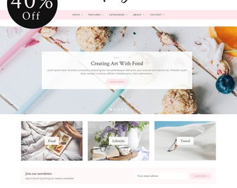 Poise - WordPress Blog Theme - Feminine WordPress theme - Responsive WordPress theme - Website template