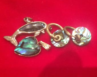 Paua shell jewellery lot