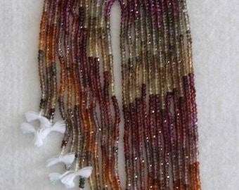 Sapphire, Sapphire Rondelle, 3 mm, Faceted Rondelle, Multicolor Sapphire, Precious Gemstone, Tanzania, FULL Strand, AdrianasBeads