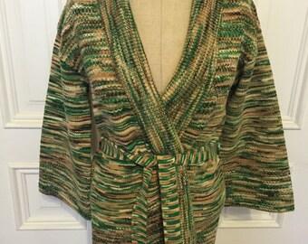 Vintage 70s Jantzen cardigan wrap bell sleeve sweater