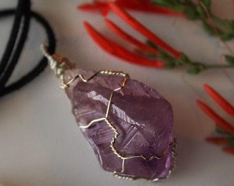 Wrapped Amethyst Crystal