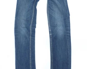 Women's Vintage Zip Fly Stretch Slim Skinny Blue Denim Jeans Size W26 L31 / UK 8