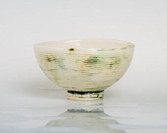 COPPER - Porcelain bowl, unique, handmade, OOAK