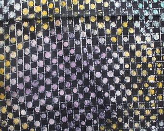 Batik Fabric, Dressmaking fabric, Handmade fabric, Dots and Grid fabric, Nigerian Cloth, 2.4 Yards, 2.2 metres, African cloth