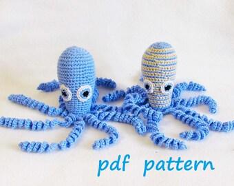 Octopus for Preemie, PATTERN, Amigurumi,premie comfort octopus,Baby Octopus Crochet Pattern, Baby toy stuffed,Knit Toy Pattern PDF