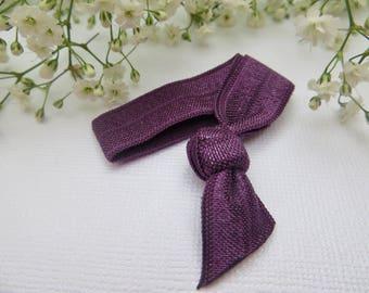 Shadow purple elastic hair tie | hair elastic | hair bobble | bohemian bracelet