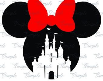 Minnie Mouse castle SVG, minnie head svg, download files, svg files, Minnie Mouse svg ,  Disney svg, Disneyland svg, Minnie svg, minnie