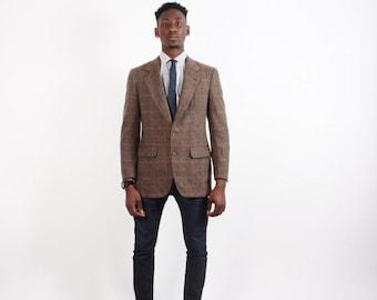 On SALE 60% Off - 80s Calvin Klein Blazer - Plaid Tweed Blazer - Designer Vintage - 2232
