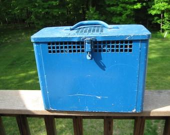 Light Blue Metal Utility Box