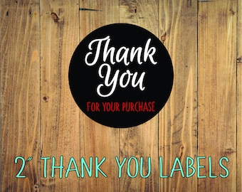 Thank you Stickers - Thank You Labels