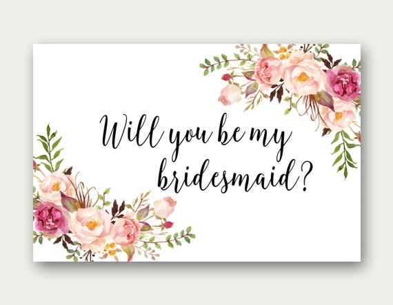 Lucrative image pertaining to free printable bridesmaid card