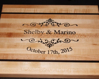 Personalized Solid Maple wood cutting board
