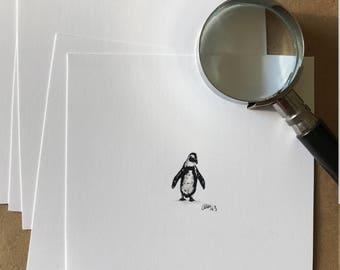 mini penguin print