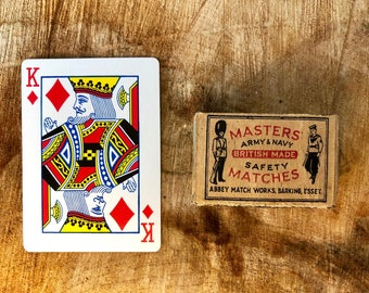 Vintage Match Box - Masters Army & Navy Safety Matches - circa 1919 - 1929