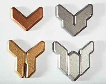 Overwatch Competitive Ranked Badge Magnets and Pins