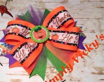 "Fall Hair Bow ""Lil Pumpkin"""