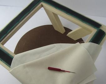 Needle Punch Frame or Rug Hooking Frame ~ Punch Needle ~ PunchNeedle ~ NeedlePunch ~ Punch Needle Supplies ~ Wooden Frame