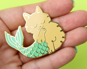 Fluffy Mercat Enamel Pin
