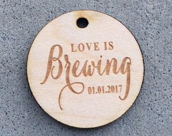 Coffee Wedding Favor, Coffee Favor Tags, Wedding Favor Tags, Coffee Favors, Bridal Shower Favor, Winter Wedding Favor, Wedding Favor