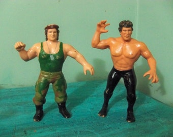 2 titan sports 1986 wwf rubber corporal Kirchner and Ricky the dragon steamboat