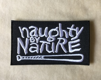 Naughty Nature Band Music Logo Iron On Patch