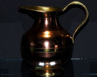 "6.25"" Copper and Brass Pitcher"