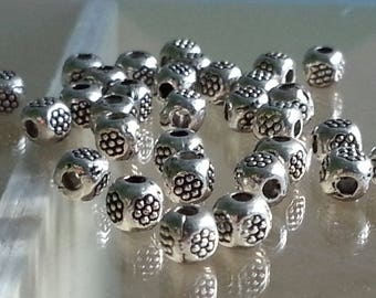 10 beads spacer separateusr Tibetan silver, lead, nickel free 5 mm, hole 1 mm