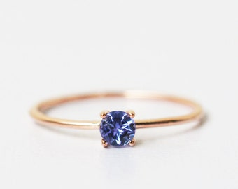 rose gold tanzanite ring, tanzanite ring, December birthstone, christmas gift, tanzanite ring 14k, rose gold ring, tanzanite engagement ring