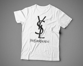 YvesSaintLaurent, T-shirt, 100% cotton, for woman style, unisex style