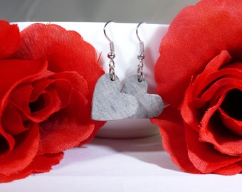 Hearts of Silver Earrings