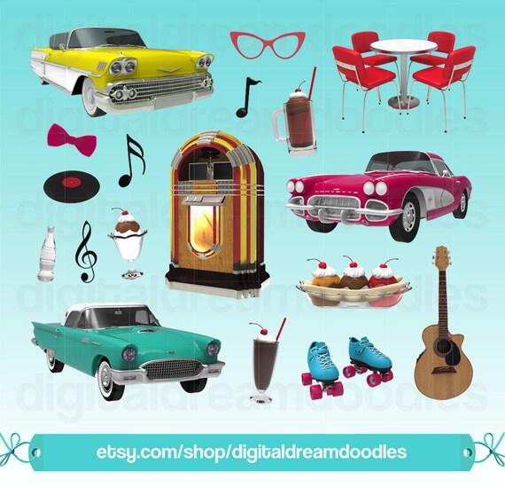 diner clipart 50s diner clip art retro clipart jukebox rh etsy com dinner clip art images dinner clip art pictures