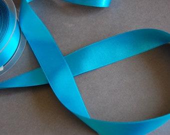 """5yds - 1"""" Turquoise DF Satin Ribbon"""