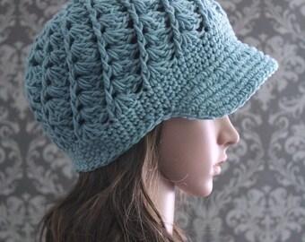 Crochet PATTERN - Crochet Hat Pattern - Crochet Newsboy Hat Pattern - Crochet Pattern for Babies - Baby, Toddler, Adult Sizes - PDF 289