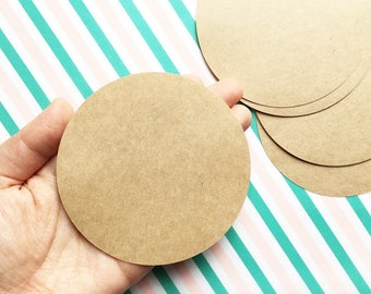 circle blank stickers | kraft label stickers | packaging labels | diy birthday christmas gift wrapping | 9cm (3.54in) set of 25