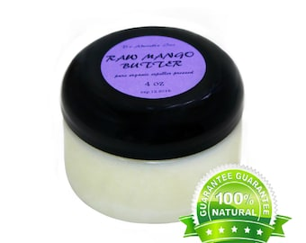 4 Oz  Raw Pure Organic Mango Butter